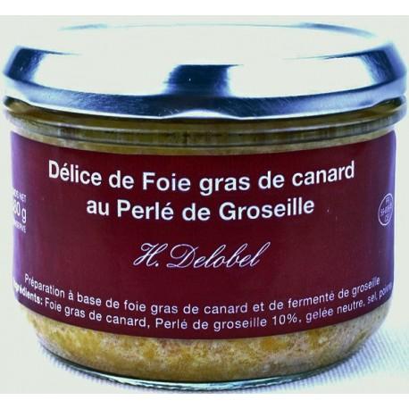Foie Gras de Canard au Perlé de Groseille 180grs