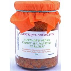 Tapenade d' Olives Vertes aux Poivrons et Basilic