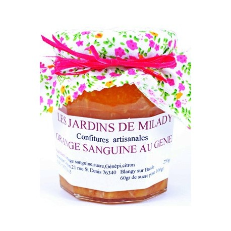Confiture Orange Sanguine au Génépi