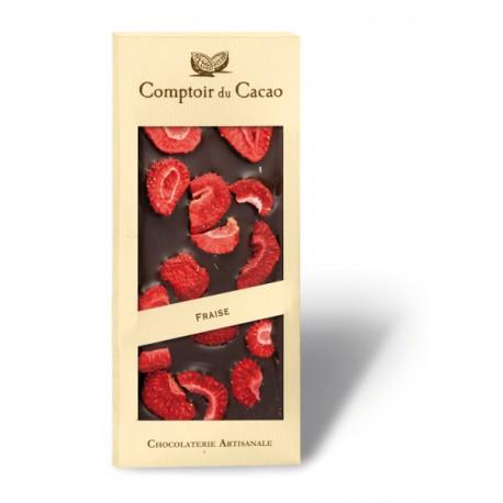 Tablette Gourmande Chocolat Noir Fraise